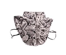 Kraagje slangprint grijs/zwart
