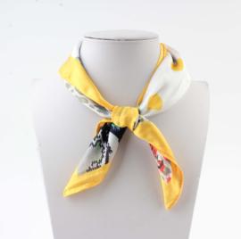 Sjaal 4prints geel