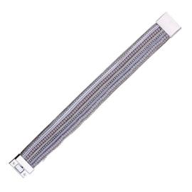Armband met magneetsluiting grijs