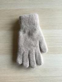 Handschoen effen beige