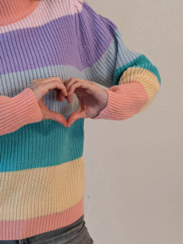 Sweater regenboogstreep