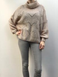 Sweater effen kol beige