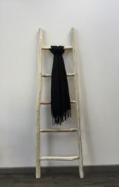 Sjaal effen zwart