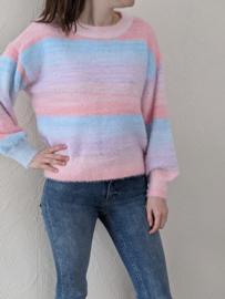 sweater multicolour lichtroos/lichtblauw