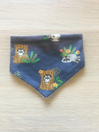 Zever sjaaltje wasbeer blauw