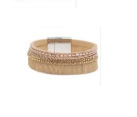 Armband met magneetsluiting beige