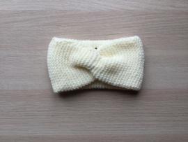 Haarband handgemaakt ecru