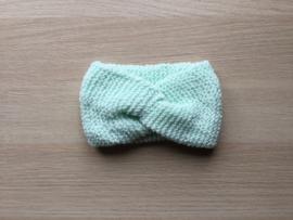 Haarband handgemaakt lichtgroen