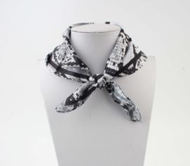 Sjaal dierprint zwart