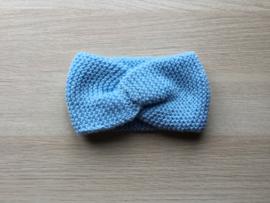 Haarband handgemaakt lichtblauw