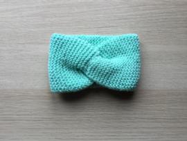Haarband handgemaakt muntgroen