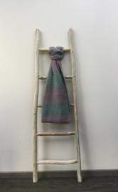 Tubesjaal handgemaakt groen/roos