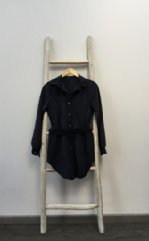 Hemd velour + riem zwart