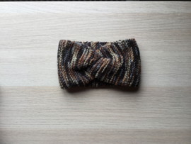 Haarband handgemaakt spikkel bruin
