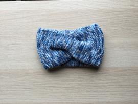 Haarband handgemaakt spikkel blauw