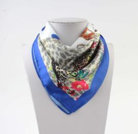 Sjaal 4prints blauw