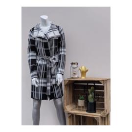 Vest ruit zwart/wit