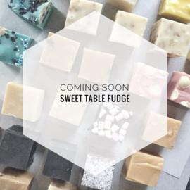 Coming soon: sweet table fudge