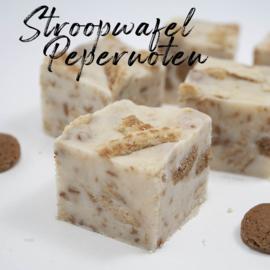 Stroopwafel + Kruidnoten fudge
