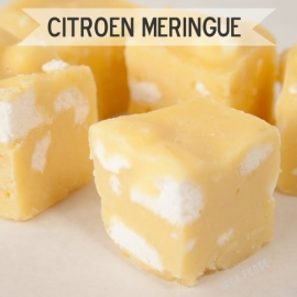 Citroen Meringue fudge