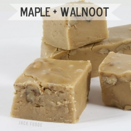 Maple + Walnoot fudge