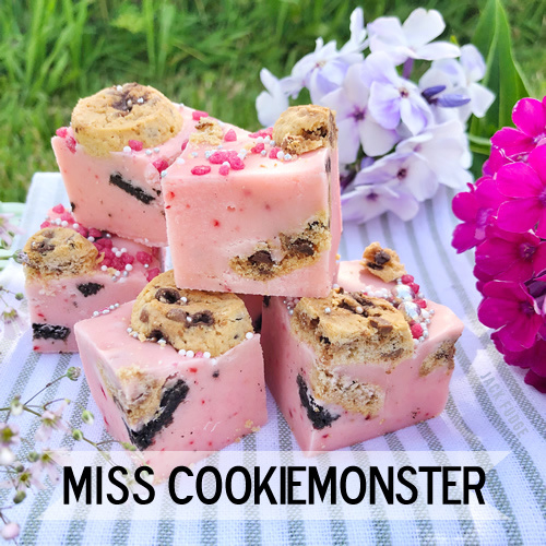 Miss Cookiemonster fudge