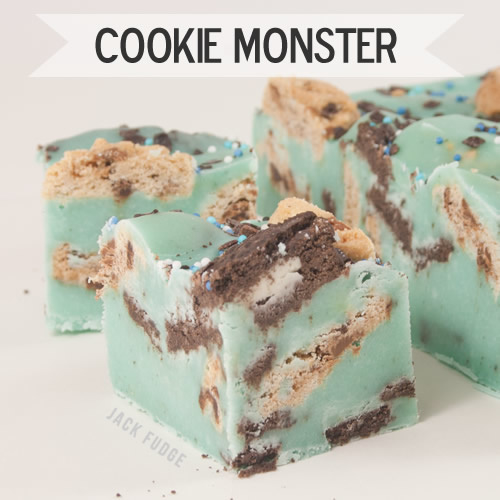 Cookie Monster fudge