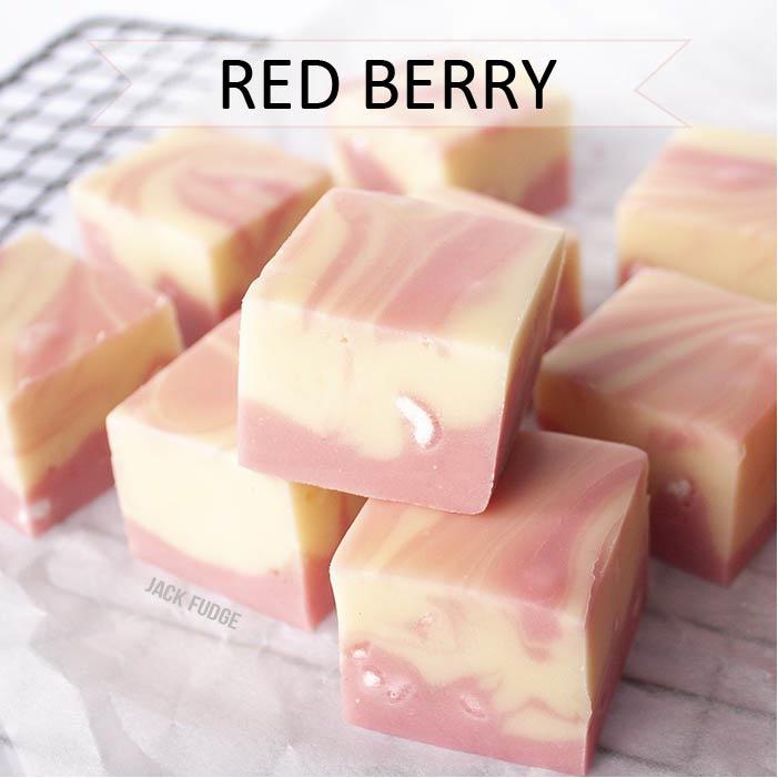 Red Berry Meringue fudge