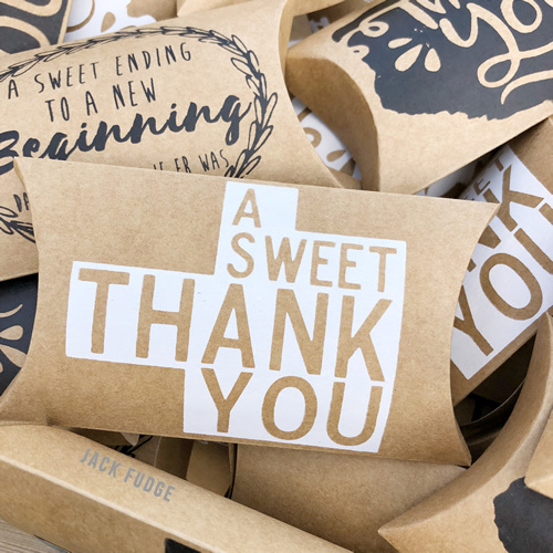 A Sweet Thank You - bedankje - 10 stuks