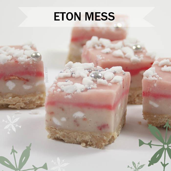 Eton Mess Cheesecake fudge