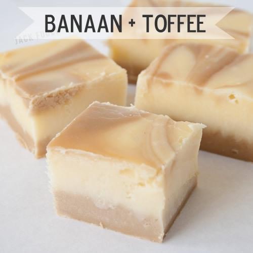 Banaan + toffee fudge