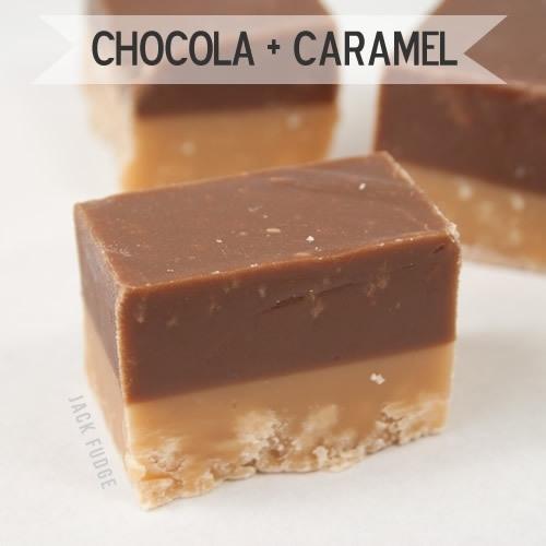 Chocolade + Caramel fudge