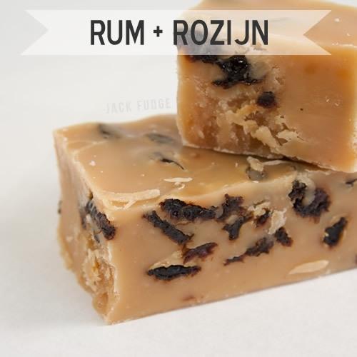 Rum Rozijn fudge
