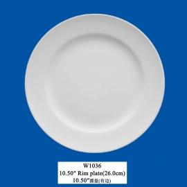 "W-1036  10.5"" Rim plate(26cm)"
