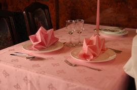 Tafellaken/Naperon Roze (meerdere maten)