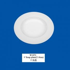 """W-1070   9"""" Soup plate(23cm)"""