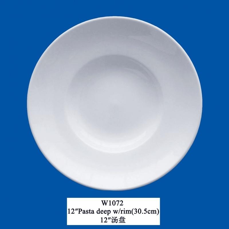 """W-1072   12""""Pasta/Salade borden (30cm)"""