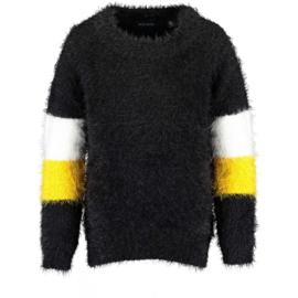 Blue Seven Girls knitted pullover Yolk Black