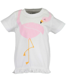 Blue Seven T-Shirt Flamingo Wit
