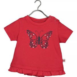 Blue Seven T-shirt Cute Butterfly