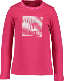 """Blue Seven Longsleeve 'Be Strong with BS """" Magenta"""