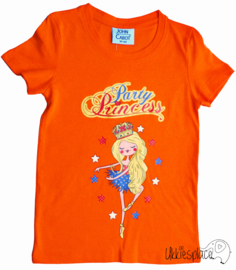 Nieuw T-shirt Party Princess  (98/104) + ( 110/116)
