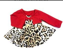 Leopard jurkje met rode bolero