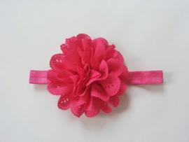 Nieuw Haarbandje satijn met kanten bloem