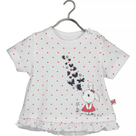 Blue Seven T-shirt Cute Butterfly (white)