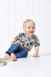 Feetje T-shirt aop offwhite - born to be wild