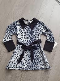 Nieuw Leopard jurk Grijs