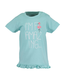 Blue Seven T-Shirt Flamingo Mint