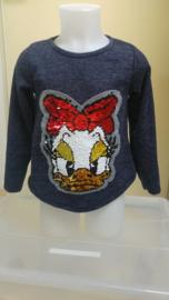 Nieuw  trui met omkeerbare pailletten Katrien Duck (116)