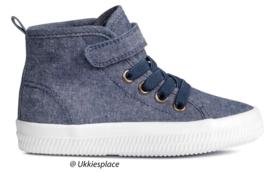 Hoge Katoenen canvas sneakers (25)